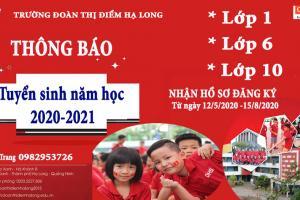 THÔNG BÁO TUYỂN SINH NĂM HỌC 2020 - 2021