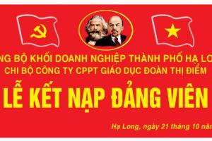 Lễ Kết Nạp Đảng Viên Chi Bộ Công Ty CP GD Đoàn Thị Điểm